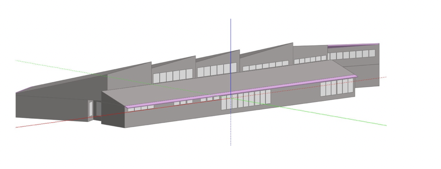 Figure 1 – Three-dimensional model of the New Jersey Meadowlands Commission Center for Environmental & Science Education (Source: Rutgers Center for Green Building)
