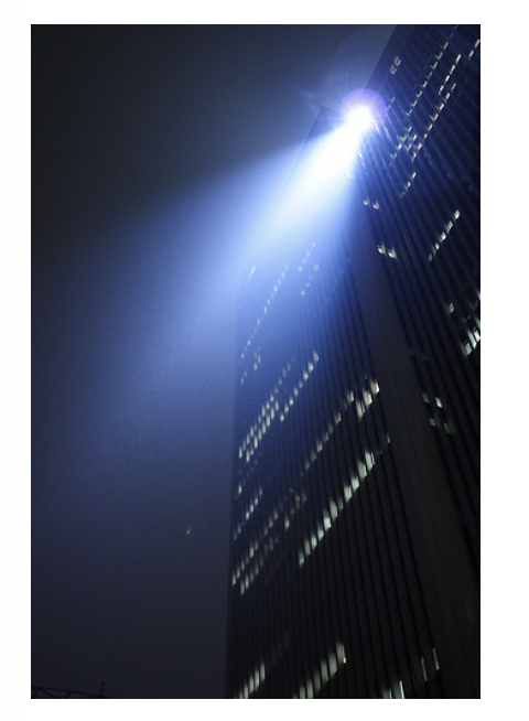 Figure 1 – Downlighting from a commercial building (Source: Flickr http://www.flickr.com/photos/mrhayata/321358583/sizes/m/in/p)