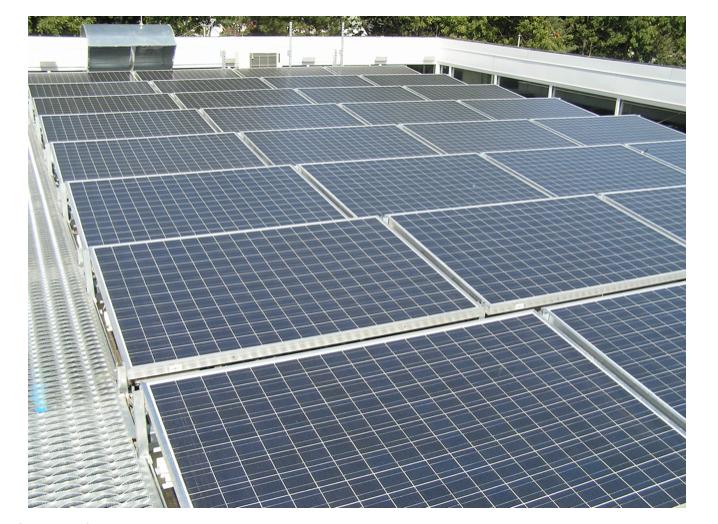 Figure 1 – Solar array on Maplewood, NJ Police Station (Source: Image Up Studio Metuchen, NJ).
