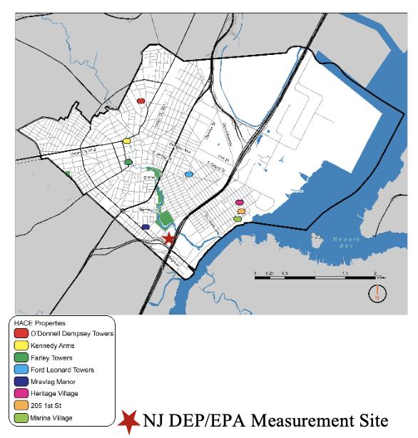 Fig 1 - Map of Elizabeth, NJ.