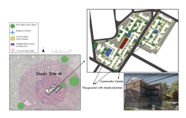 Fig 2- Study Site M and its Surroundings ((NJGIN), 2016; Maps, 2017)