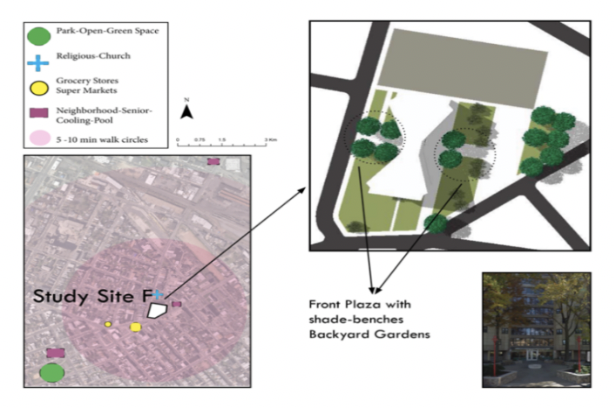 Fig 3 - Study Site F and its Surroundings ((NJGIN), 2016; Maps, 2017).