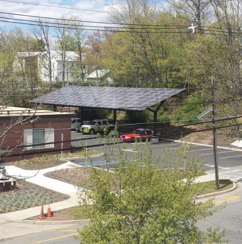 Figure 1 - Fire Station Solar Array, Highland Park, NJ. (Source: Rutgers Center for Green) Building).