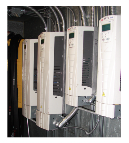 Figure 1 – Variable frequency drives, Atrium Building – Secaucus, NJ (Source: Rutgers Center for Green Building)